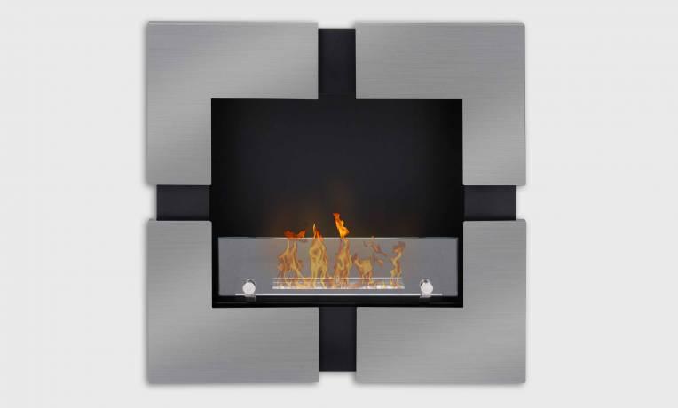 Quattro, cheminee bioethanol murale