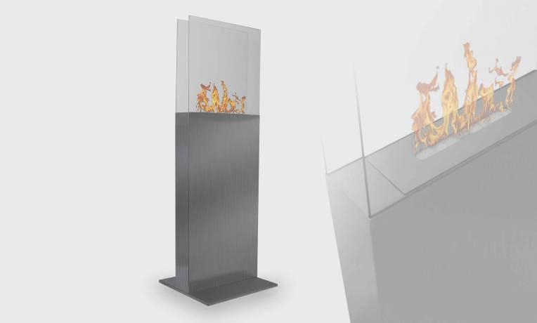Tower, cheminée ethanol sur pied