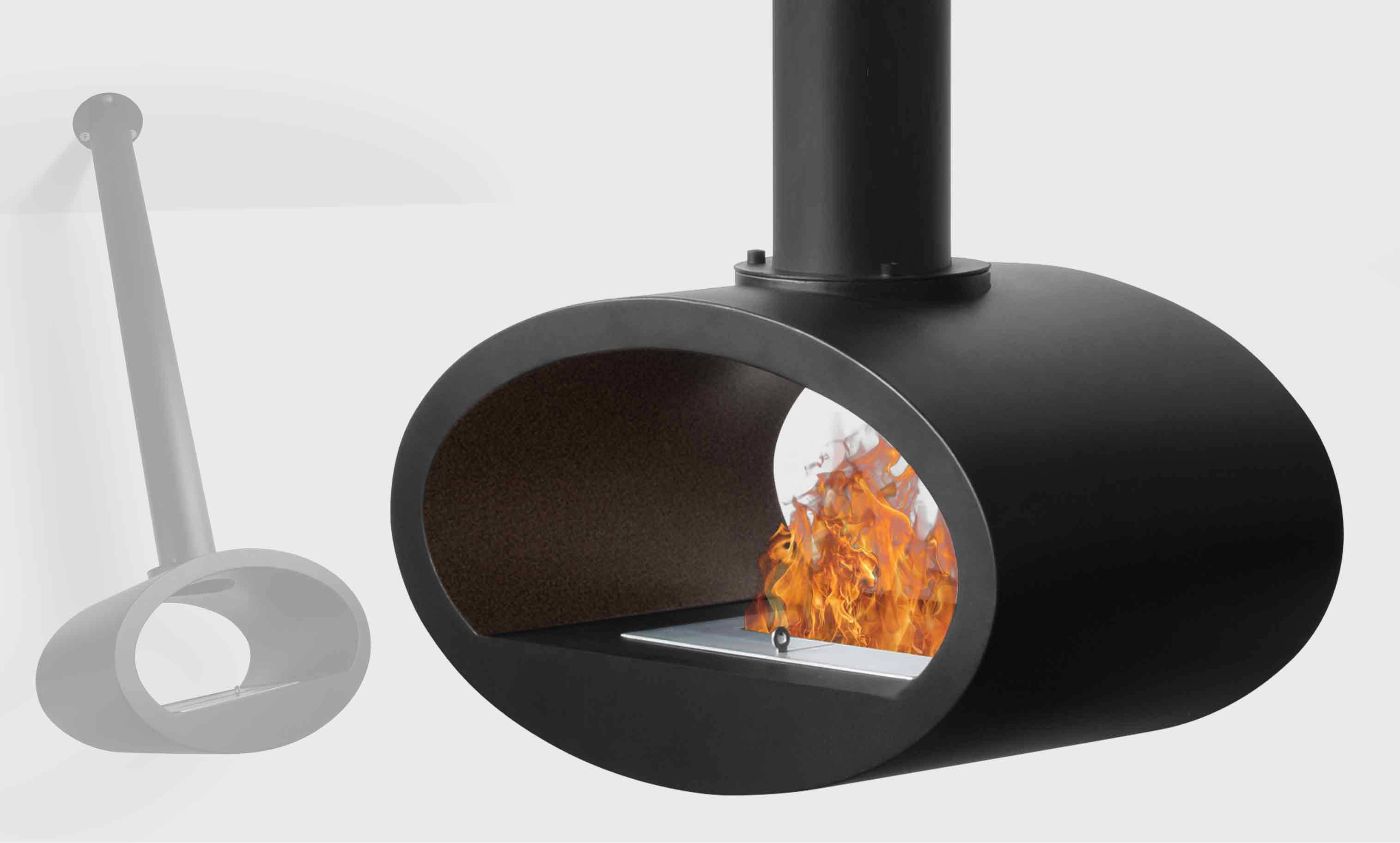 chemin e suspendue bio thanol ellipse. Black Bedroom Furniture Sets. Home Design Ideas