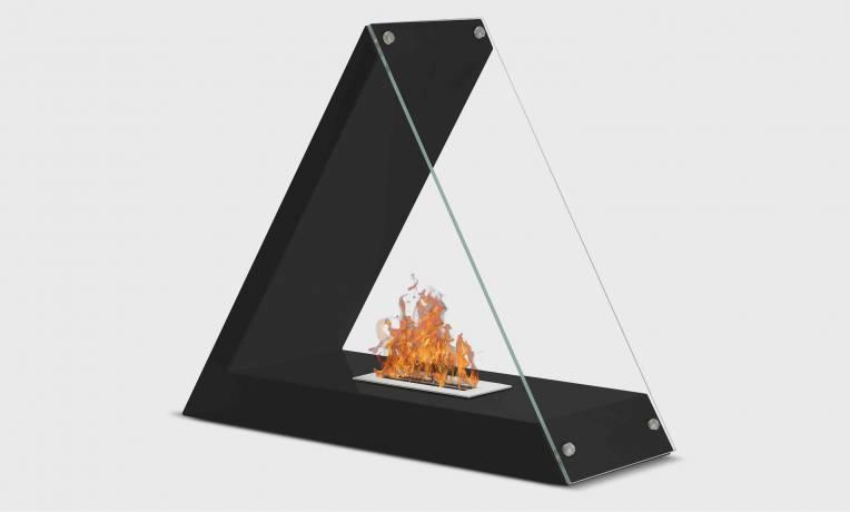 Cheminée éthanol triangulaire