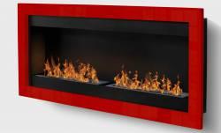 Cheminee murale SevenFire XL 4 brûleurs
