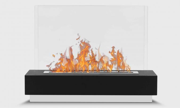 cheminée éthanol à poser grande flamme
