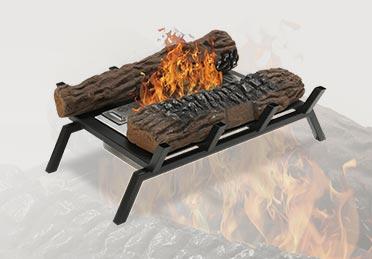 Faux chenets de cheminée